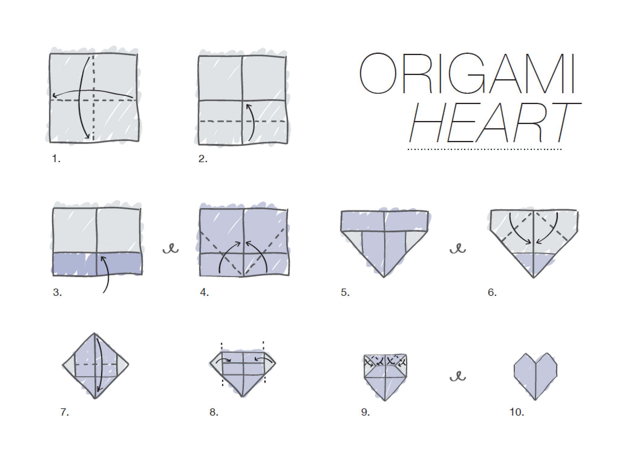 easy origami heart step by step origami heart - photo#17